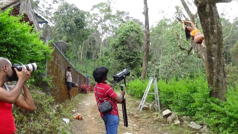 Ramachandran during the photoshoot