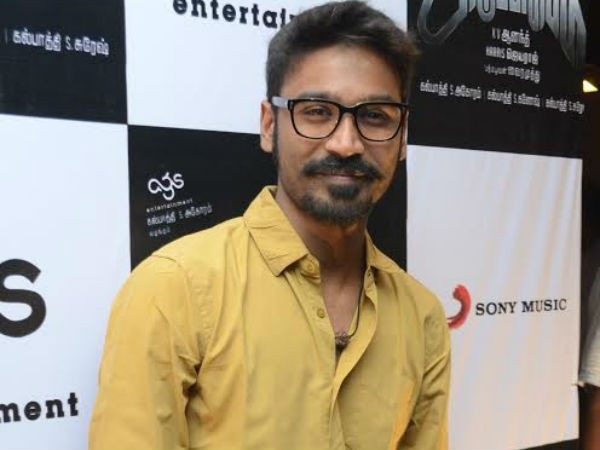 "Dhanush at ""Anegan"" Audio Launch"