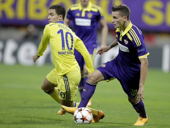 Eden Hazard Chelsea Petar Stojanovic Maribor