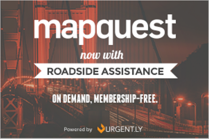 MapQuest Updates iOS App To Offer Membership-Free Road-Side Assistance Via Urgent.ly