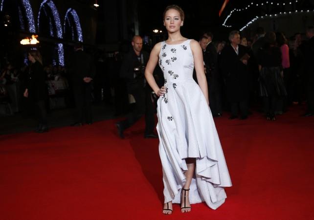 "Jennifer Lawrence arrives for the world premiere of ""The Hunger Games: Mockingjay Part 1"""