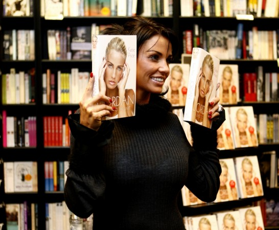 Katie Price in Waterstones bookstore with her new autobiography 'Pushed To The Limit'