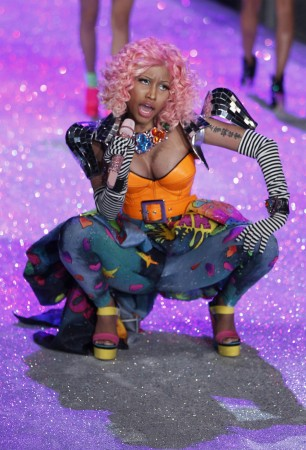 Nicki Minaj performs during the Victoria's Secret Fashion Show