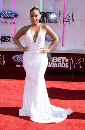 Adrienne Bailon arrives at the 2014 BET Awards