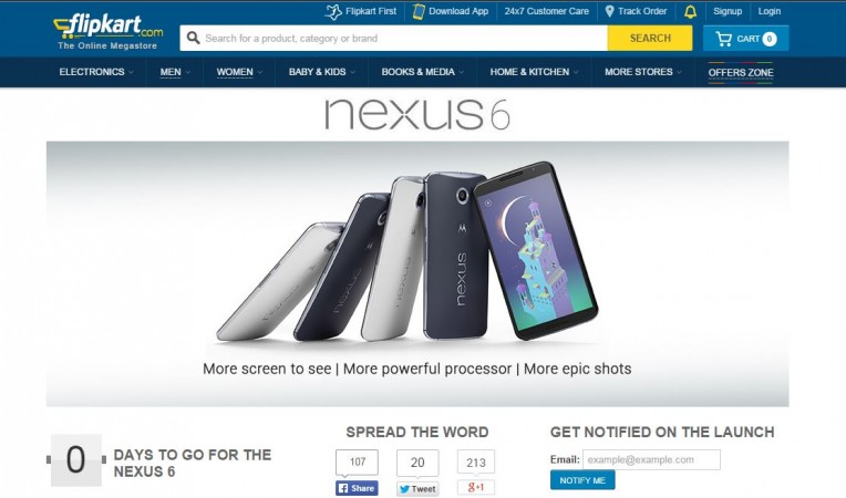 Google Nexus 6 Pre-Order Service to go Live in India on 18 November