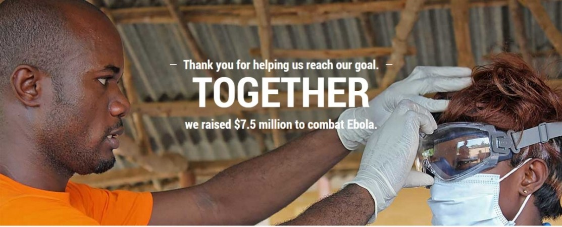 Fight Ebola campaign of Google has achieved its target of $7.5 Million
