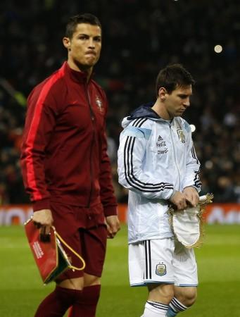 Cristiano Ronaldo Lionel Mess Portugal Argentina