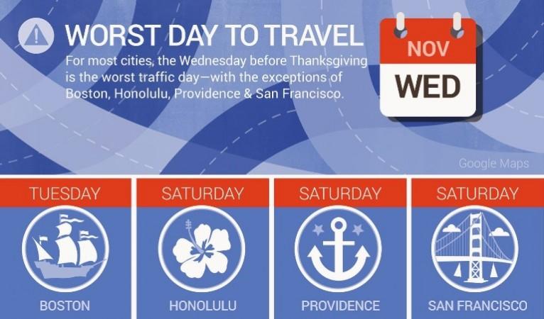 Use Google Maps To Beat Thanksgiving Traffic
