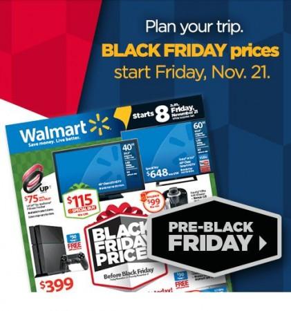 Walmart's pres black-friday sale banner