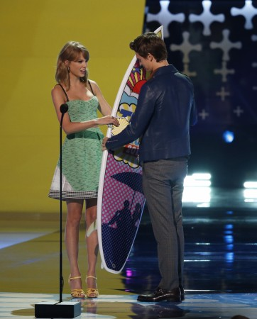 Taylor Swift and Ansel Elgort