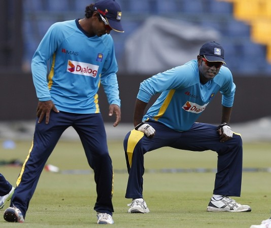 Angelo Mathews Kumar Sangakkara Sri Lanka