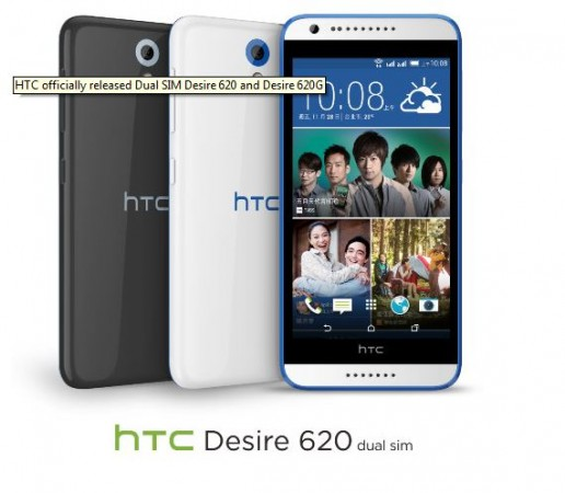 HTC Launches Mid-Range Smartphone Desire 620; Price, Specifications