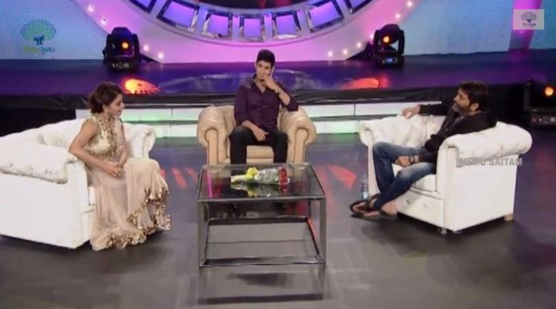 Mahesh Babu, Samantha and Trivikram Srinivas' chat show at Memu Saitam event