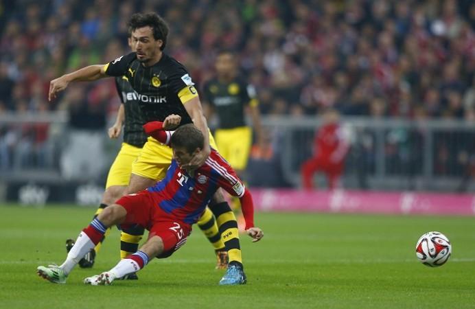 Mats Hummels Borussia Dortmund Thomas Muller Bayern Munich
