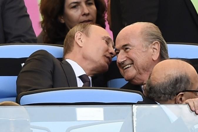 Vladimir Putin and Sepp Blatter