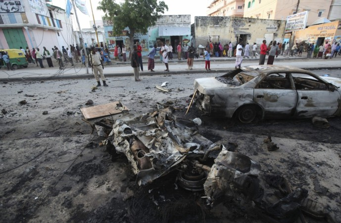 A blast heard in the vicinity of the international airport in the Somali capital Mogadishu on Wednesday has spread panic in the city.