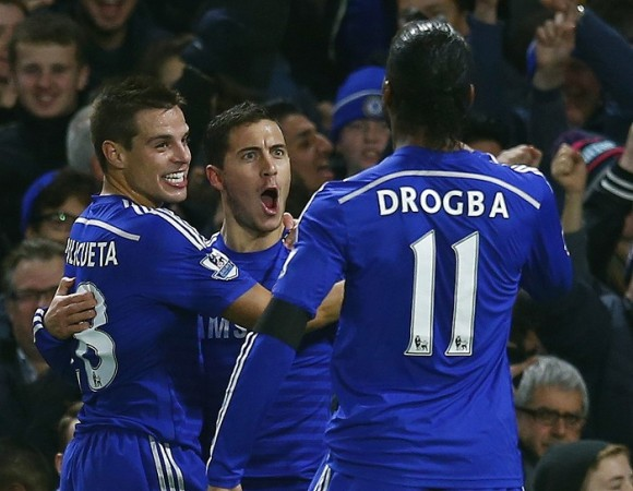 Cesar Azpilicueta Eden Hazard Didier Drogba Chelsea