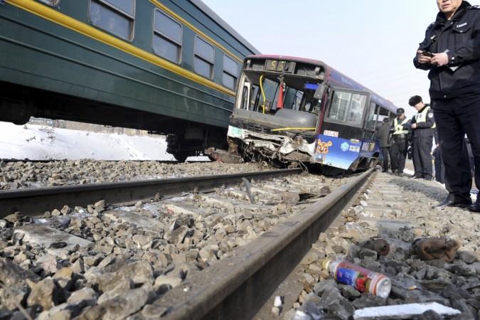 School Bus train collision
