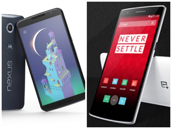 OnePlus One Vs Google Nexus 6 Face-Off; Specs, Features, Prices Compared