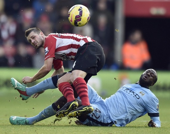 Morgan Schneiderlin Southampton Yaya Toure Manchester City
