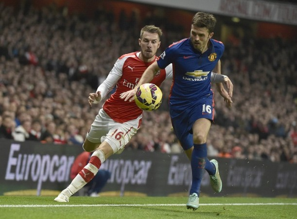 Aaron Ramsey Arsenal Michael Carrick Manchester United