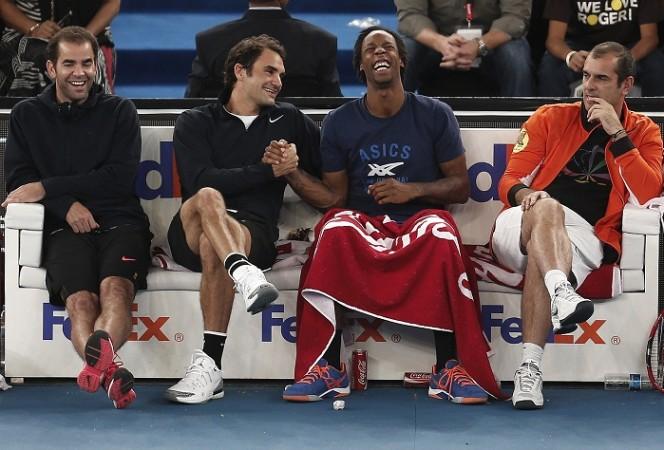 Pete Sampras Roger Federer Gael Monfils Cedric Pioline Indian Aces