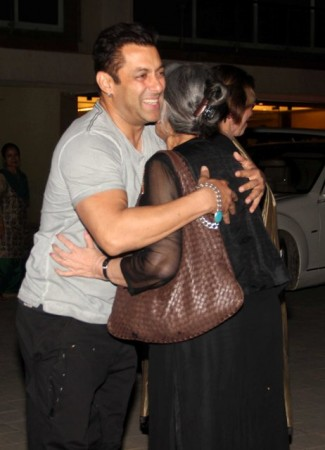 Salman Khan and his mother Salma Khan