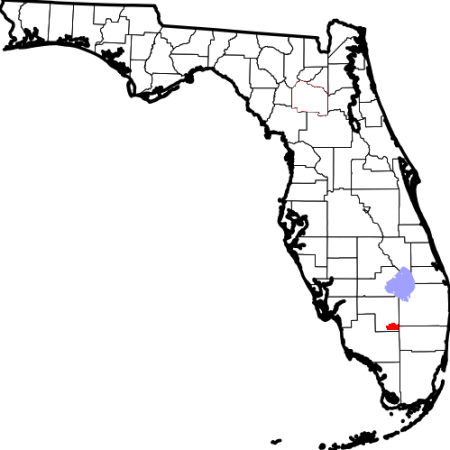 Location of Big Cypress Indian Reservation