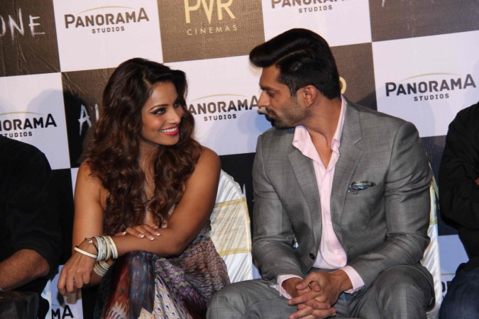 Bipasha Basu, Karan Singh Grover at Trailer Launch of 'ALONE'