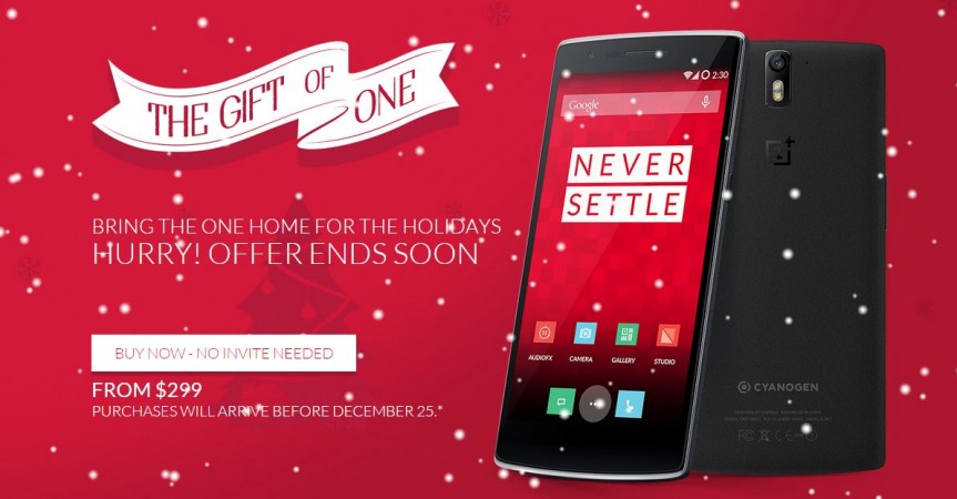 Christmas 2014 Offer: OnePlus One Now Available Without Invites
