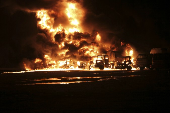 gas tanker fire