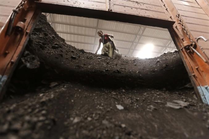 Coal being unloaded