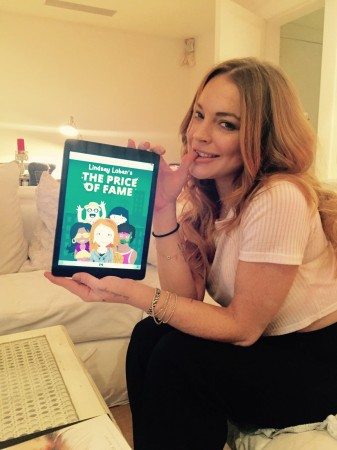 Lindsay Lohan unveils new gaming app on her life