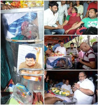 Chakri's Cremation Held at Panjagutta: Balakrishna, SPB, Baba Sehgal and other Pay Homage