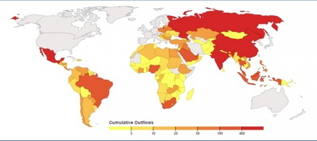 Corrupt Countries heat map