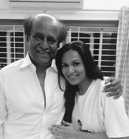 Rajinikanth with Soundarya