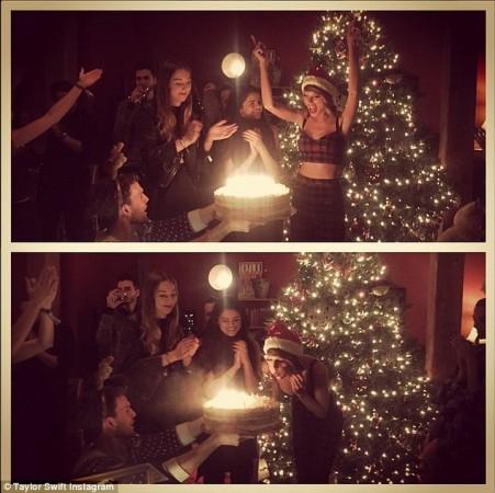 Selena Gomez at Taylor Swift's 25th Birthday Party