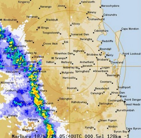 The weather bureau has warned of a severe thunderstorm that could bring damaging winds and very heavy rains across the area.