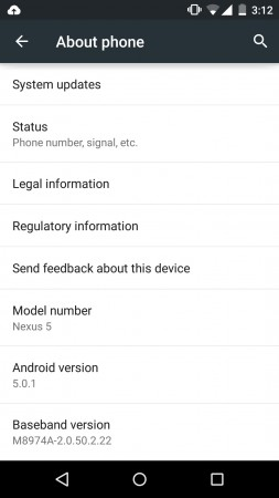 Android 5.0 Lollipop OTA Update Released to Google Nexus 5 in India; Brings Fix for Wi-Fi Tethering Bug and Other Issues