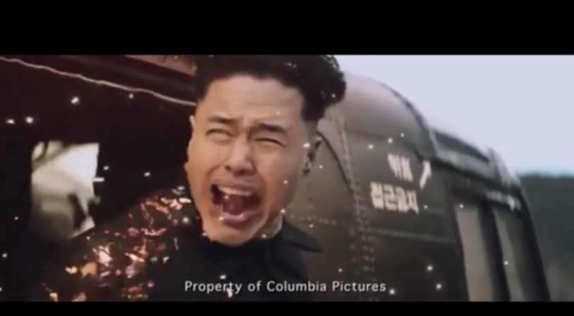Watch the leaked scene from 'The Interview' where North Korea's leader Kim Jong-un is assassinated.