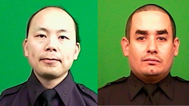 New York Police Officers Wenjian Liu and Rafael Ramos, who were shot dead by gunman Ismaaiyl Brinsley