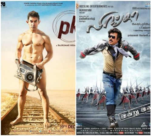 Aamir Khan's PK Takes a Toll on Rajinikanth's Lingaa Collection at AP/N Box Office