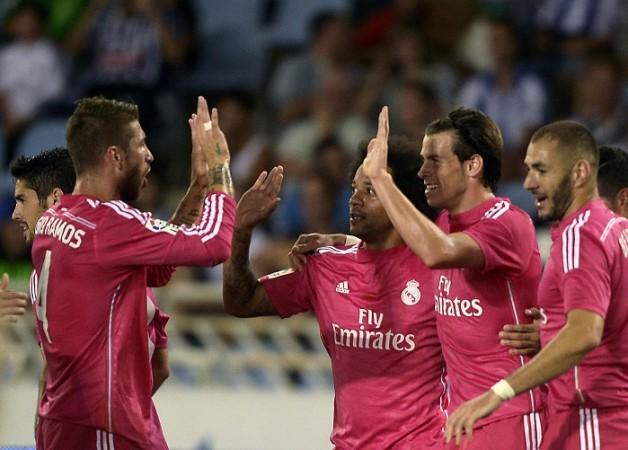 Sergio Ramos Marcelo Gareth Bale Karim Benzema Real Madrid
