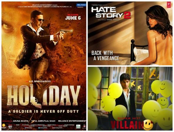 Holiday, Ek Villain, Hate Story 2 posters
