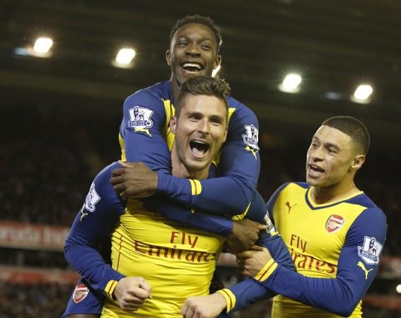 Olivier Giroud Danny Welbeck Alex Oxlade-Chamberlain Arsenal