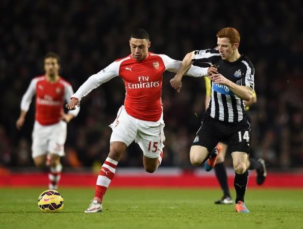 Alex Oxlade-Chamberlain Arsenal Jack Colback Newcastle United