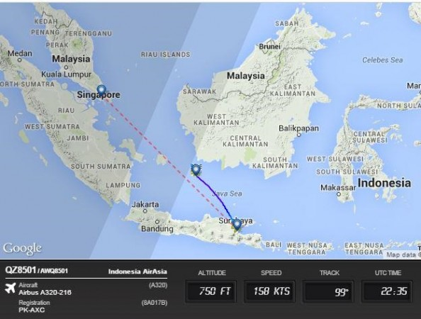 AirAsia flight went missing near Indonesian airspace.