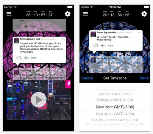 New Year Eve 2015 Ball Drop Apple iTunes app