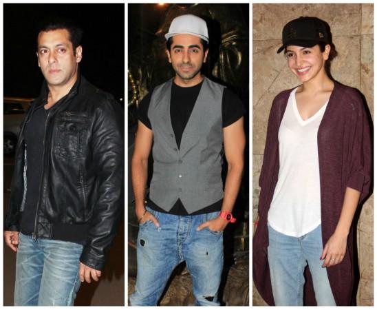Salman Khan, Ayushmann Khurrana, Anushka Sharma