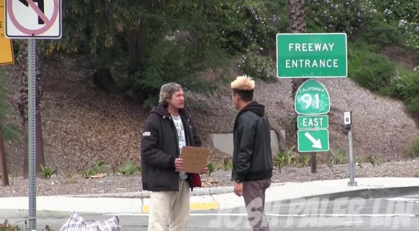 Homeless Man Video fake
